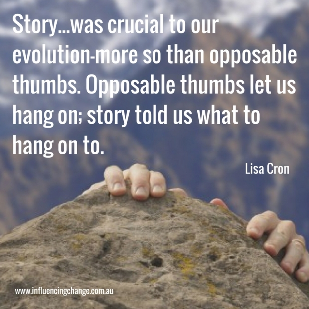 storytelling Quote lisa cron