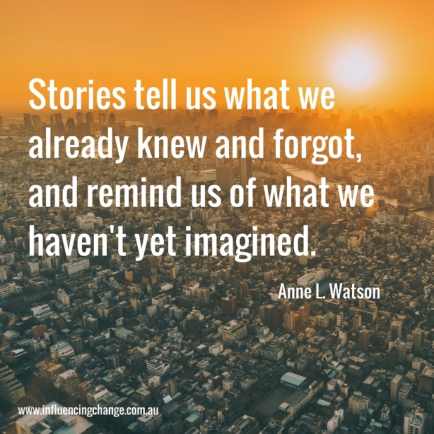 storytelling quote anne l watson