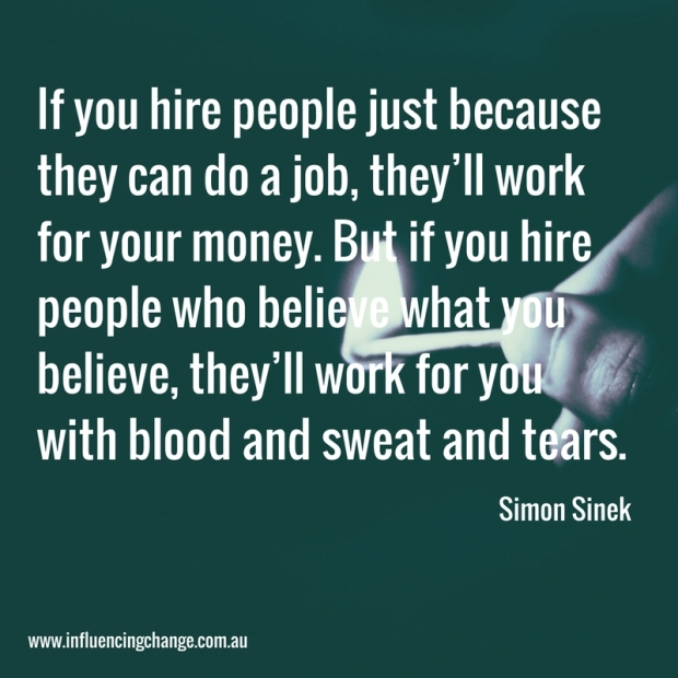 influencing change quote simon sinek