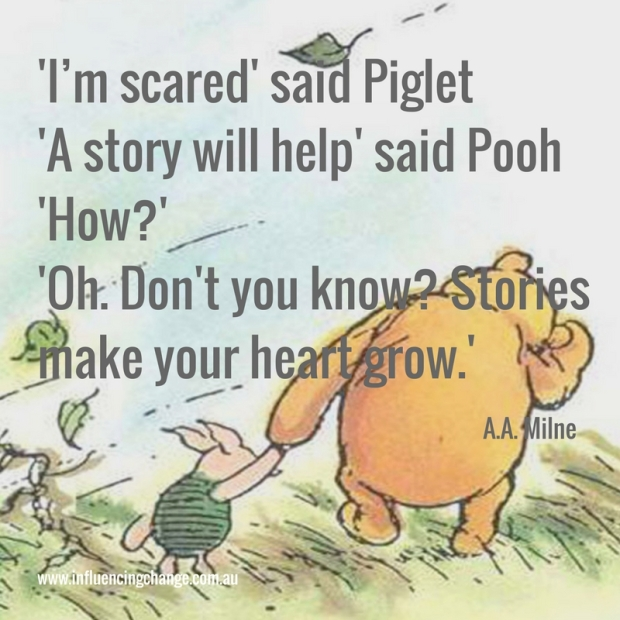 storytelling quote a a milne