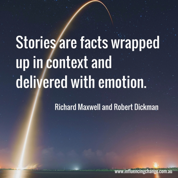 storytelling quote robert dickman richard maxwell