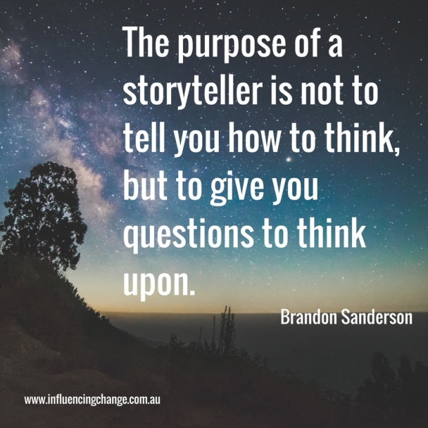 business storytelling quote sanderson