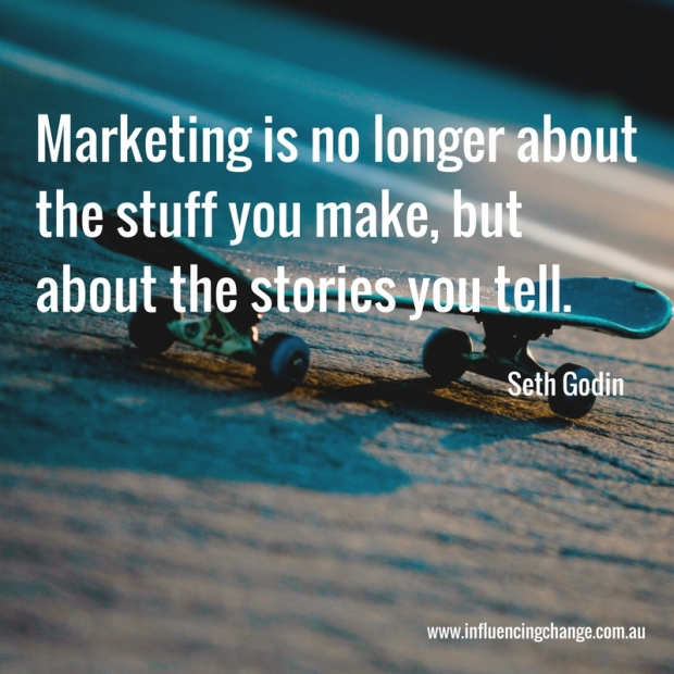 business storytelling quote seth godin