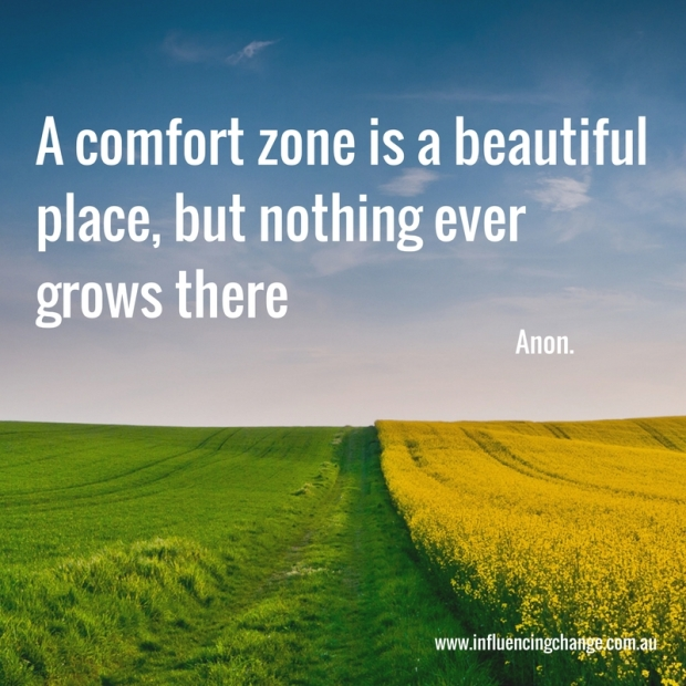 behaviour change quote comfort zone