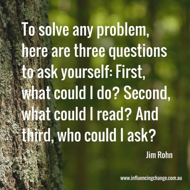 rohn quote problem solving