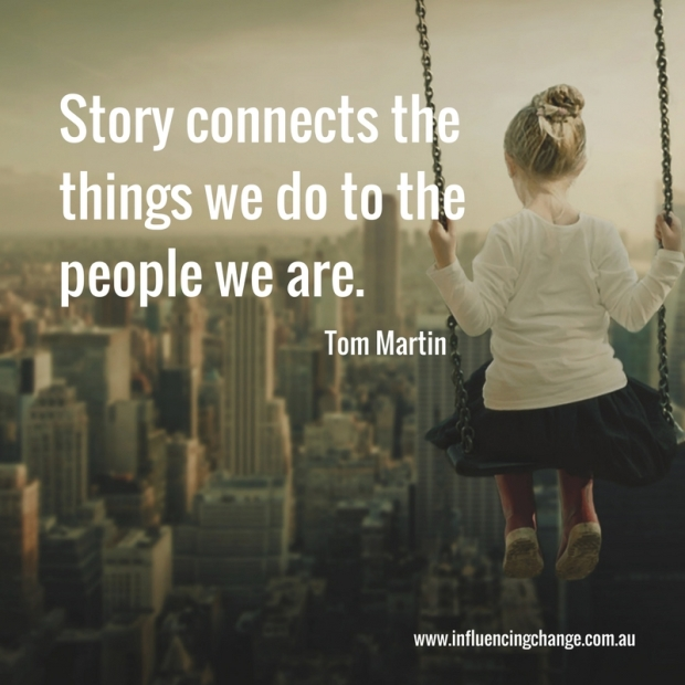 Storytelling quote connection