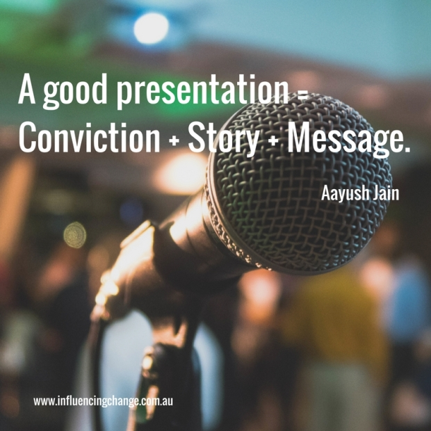 Storytelling quote conviction message