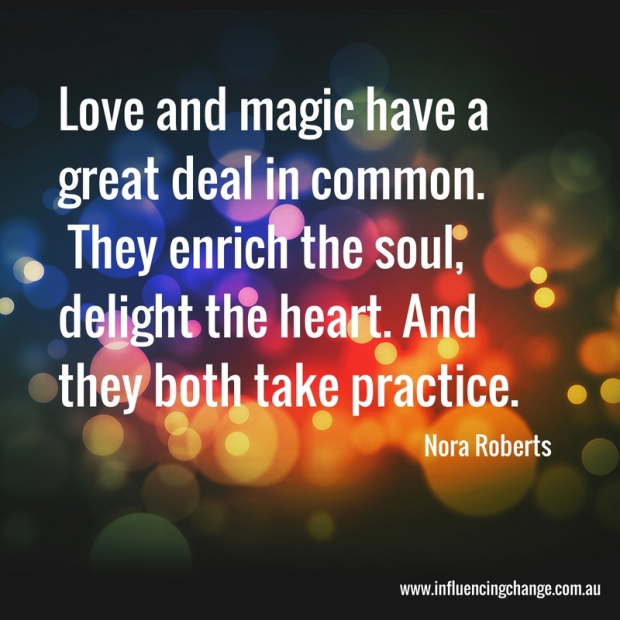 nora roberts quote love and magic