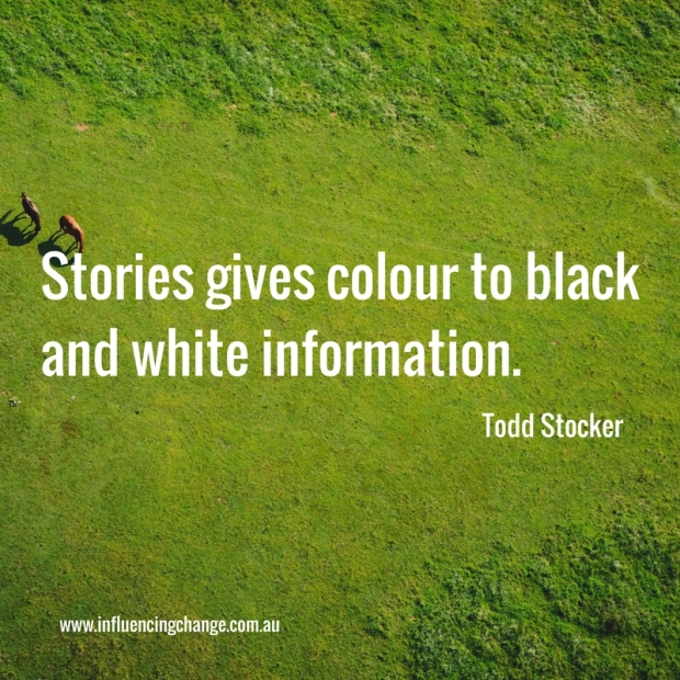 Storytelling quote colour