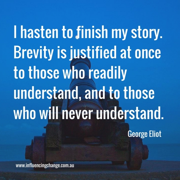 Storytelling quote george eliot
