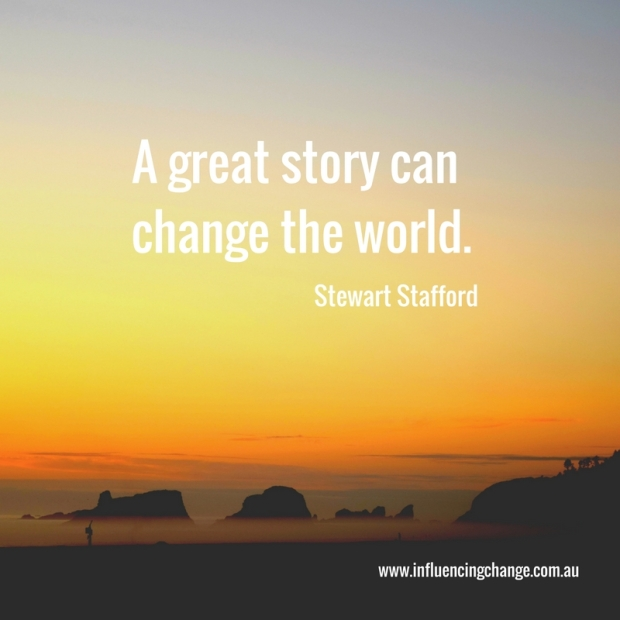 Storytelling quote change the world