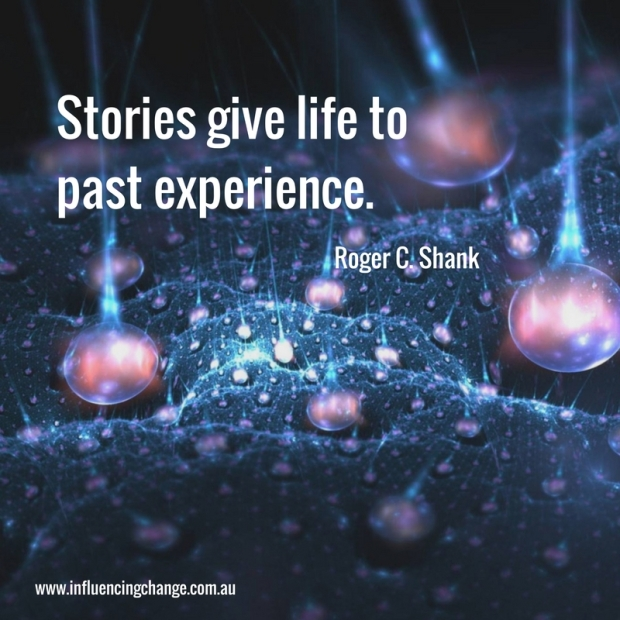 Storytelling quote roger shank