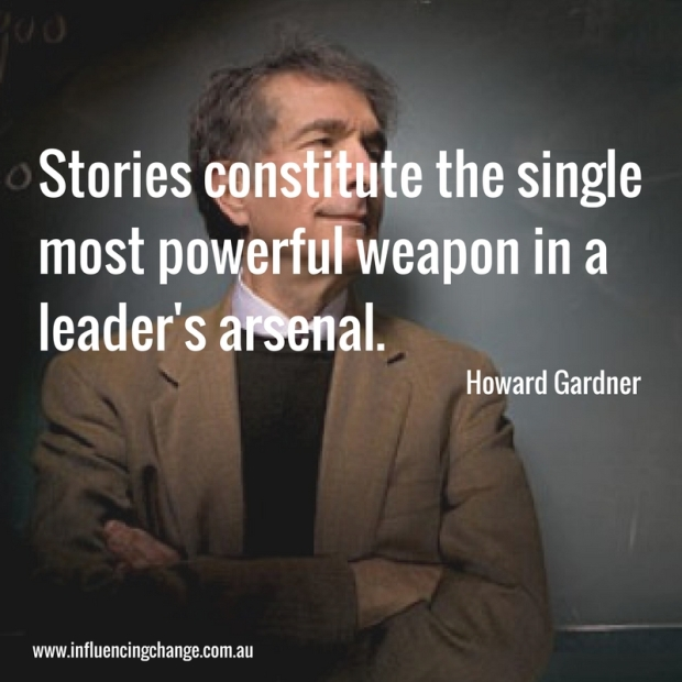 Storytelling quote Howard Gardner