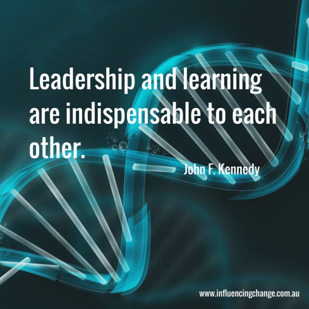john f kennedy quote learning leadership