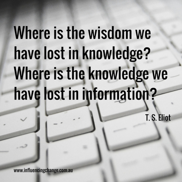 T S Eliot quote knowledge