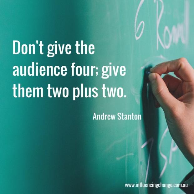 storytelling quote andrew stanton