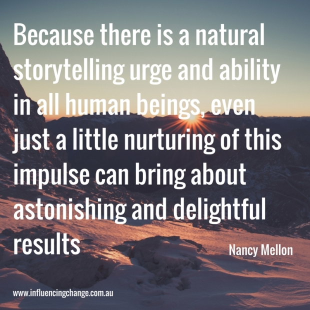 storytelling quote mellon